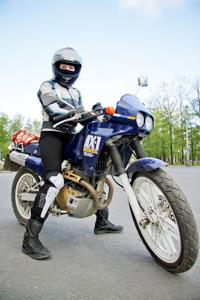 Секс едя на мотоцикле